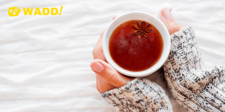 Hot tea for natural remedy of flu